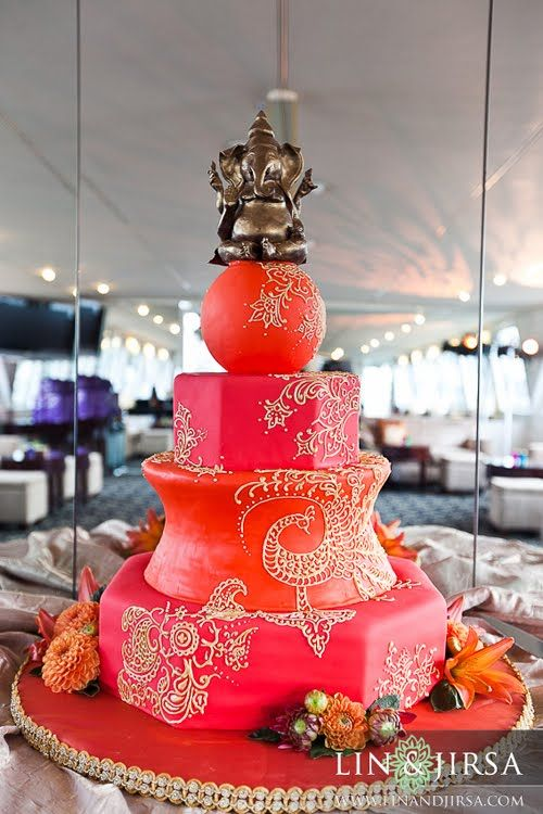 indian wedding cake: Indian Weddings, Indian Wedding Cakes, Colors Cakes, Cakes Toppers, Henna Design, Cakes Design, Indian Style, Cakes Wedding, Crazy Cakes