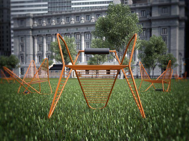 A Pretzel-Like Chair That's Reversible #design #furniture #mobilier Battery Park Conservancy Design Competition