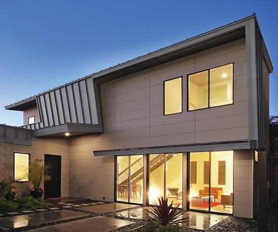 Nichiha architecturalblock fiber cement panels offer a for Modern fiber cement siding