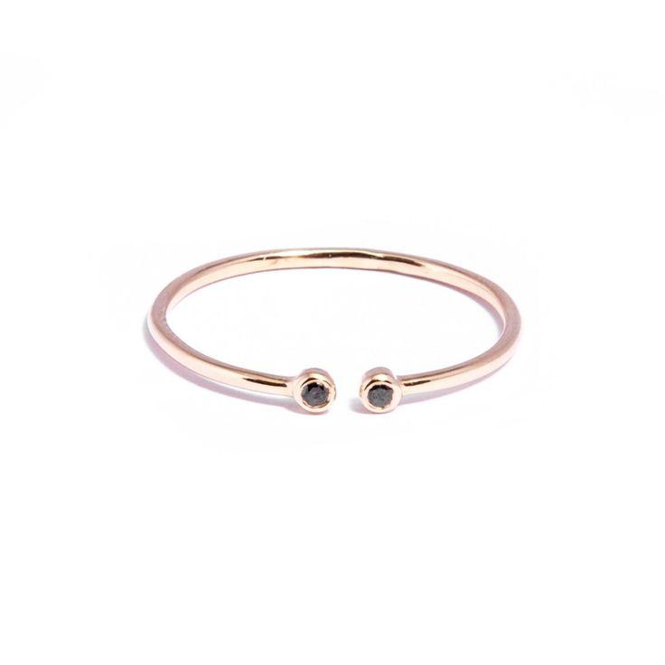 Black Diamond Gold Pair Ring- £95.00