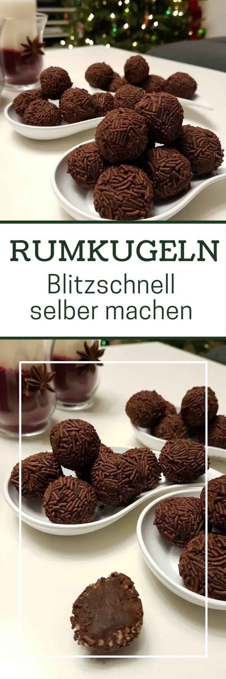 Rezept: Rumkugeln aus geriebener Schokolade selber machen