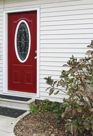 Painted Red Door | Modern Masters Front Door Paint in color Sophisticated | Project by Kathy & 101 best Doors | Modern Masters images on Pinterest | Modern ... pezcame.com
