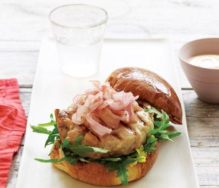 Tuna and Ginger BurgersFrom A, Burgers Recipe, Gwyneth Paltrow, At A, Food, Burger Recipes, Paltrow Tuna, Gingers Burgers, Tuna Burgers
