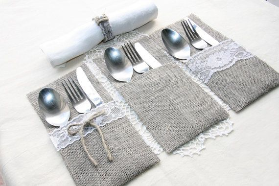 Hey, I found this really awesome Etsy listing at https://www.etsy.com/listing/226332491/burlap-silverware-holders-table-decor