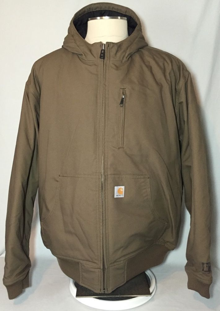 Carhartt Men's Jefferson Quick Duck Active Coat Jacket Canyon Brown XXL 2XL #Woodward #BasicCoat