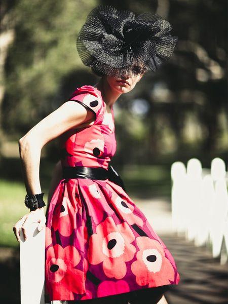 I love this Marimekko Red/ Purple Unikko Print Dress by Mackenzie Mode even more .