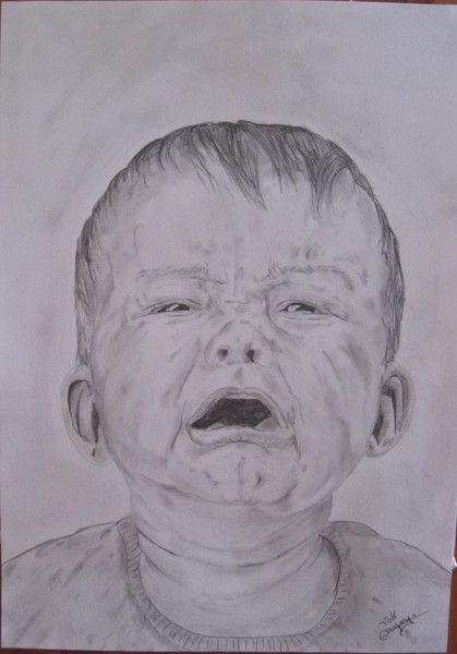 """Crayon, """"le bébé qui pleure"""" est une création orginale de GVanspey sur DaWanda"""
