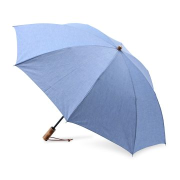 WAKAO/紳士用 シャンブレー折りたたみ傘 サックス 9450yen 紳士服の生地を使い、洗練された雰囲気に仕上げた折り畳み傘