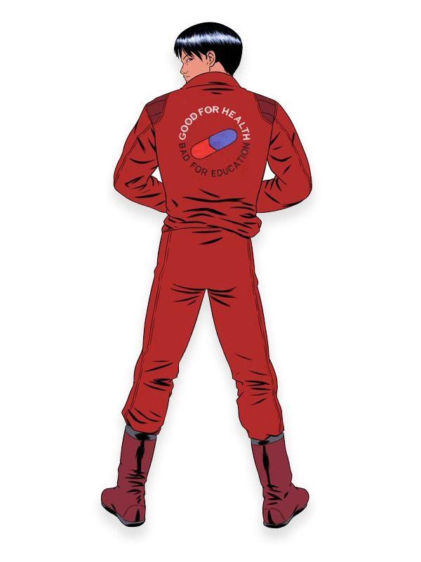 Akira Kaneda Jacket Good For Health Bad For Education Em 2020 Moda