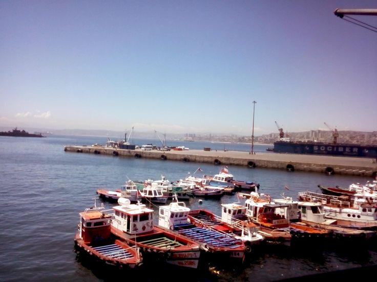 The port of Valparaiso, el puerto