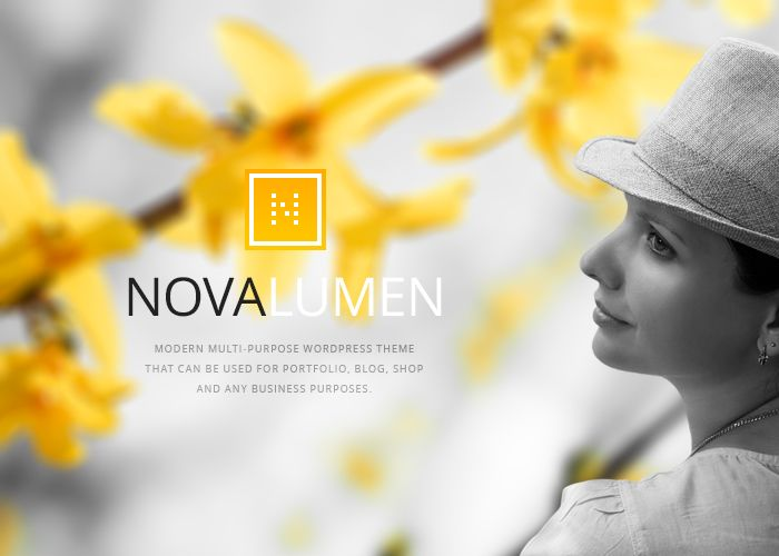 Novalumen WordPress Theme #webdesign #inspiration #UI