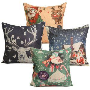 Kerst sierkussen hoes De gezellige kerstsfeer in huis halen tijdens de kerstdagen kan heel gemakkelijk met leuke woonaccessoires. Deze sierkussen hoes in de afmeting 44 bij 44 centimeter, kunnen le...