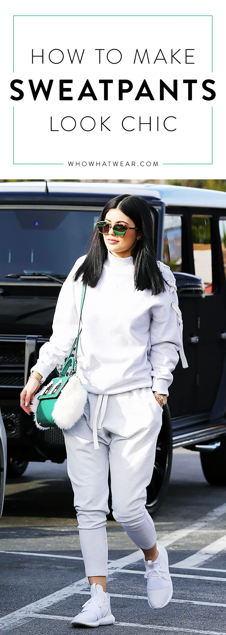 How to look stylish in sweatpants, like Kylie Jenner