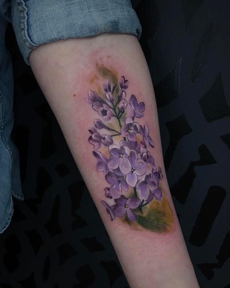 Lilacs ink inktailor tattoo tattooartist minnesota