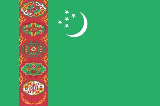 Fichier:Flag of Turkmenistan.svg