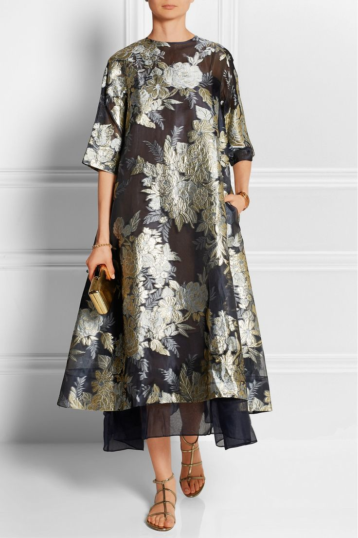 Biyan | Adine oversized embroidered organza dress | NET-A-PORTER.COM
