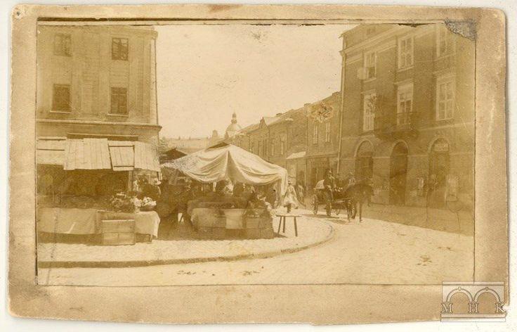 Widok ul. Siennej z Małego Rynku, fot. nieznany, ok. 1890.
