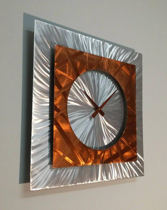 Copper Unique Wall Clock DEMOCRATES