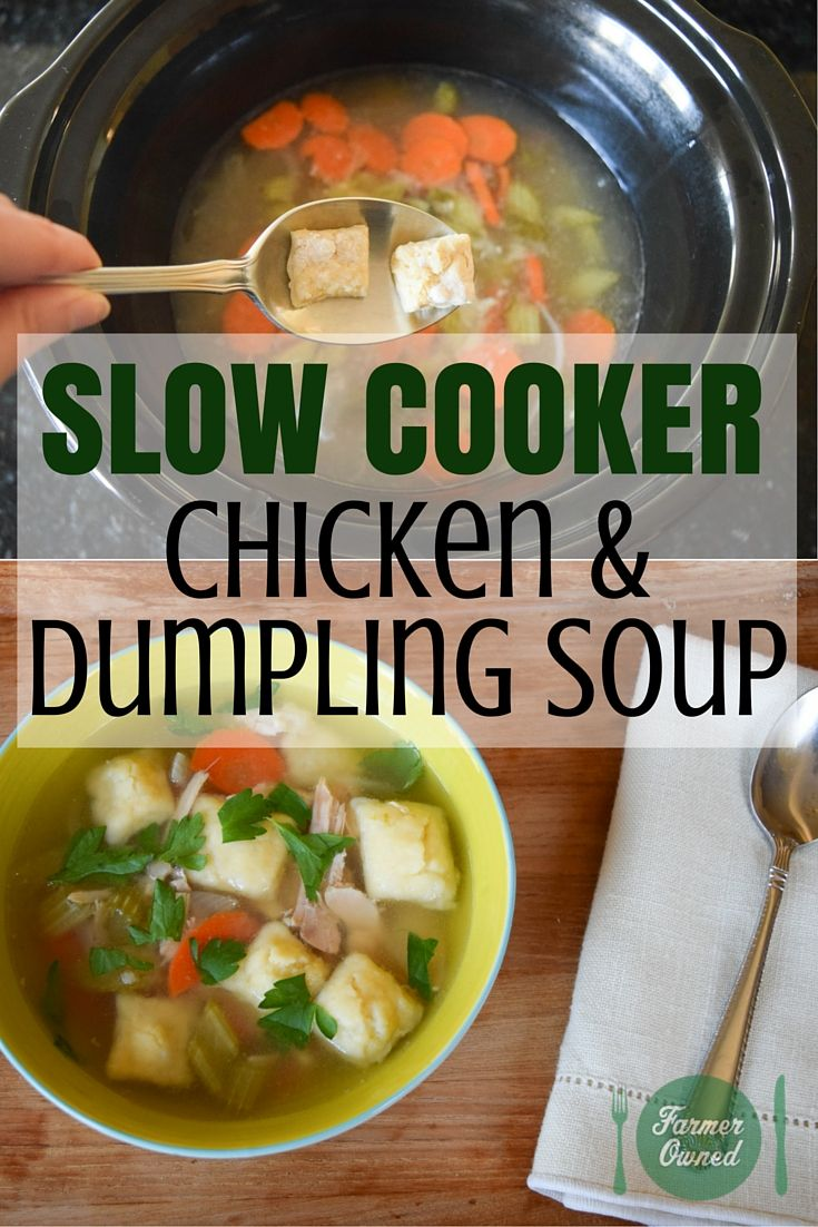 A #Slowcooker makes this Chicken & Dumpling Soup almost effortless.