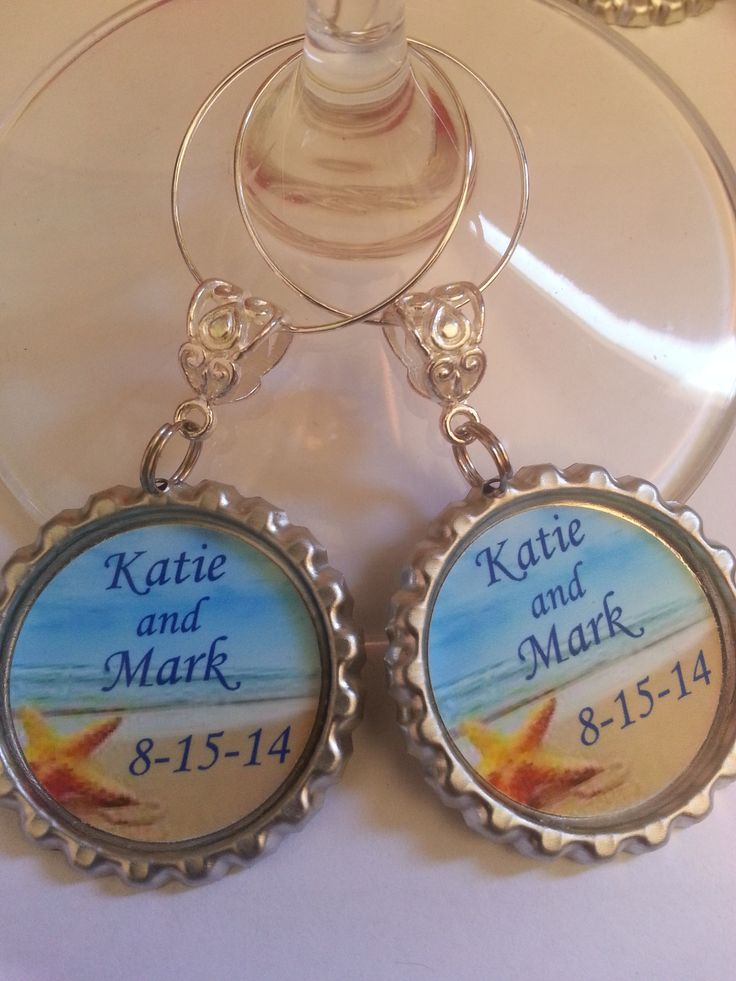 wedding favors and decorations reception wine charms