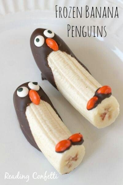 Fun Dessert, frozen penguin bananas