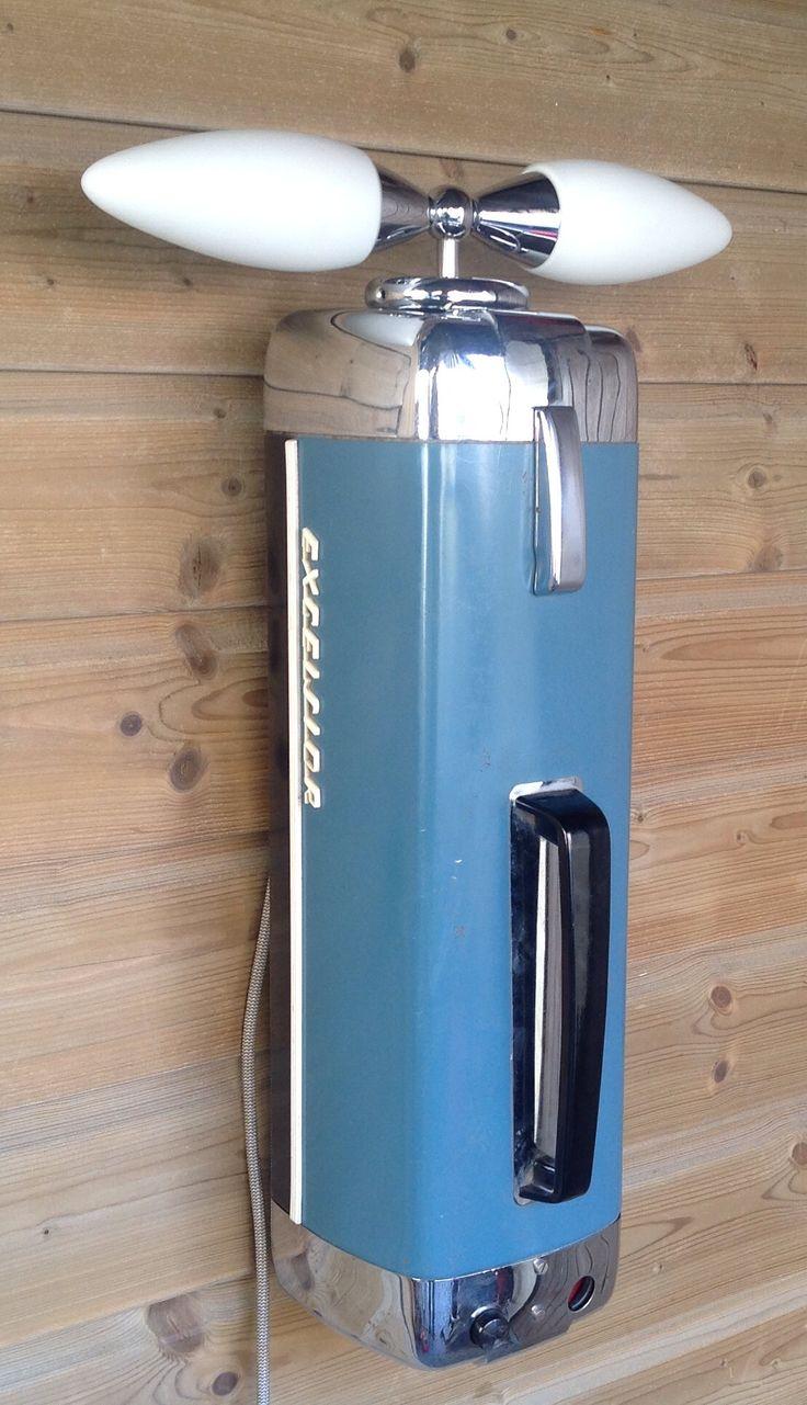 Exelsior stofzuiger Vintage lamp / 125,-