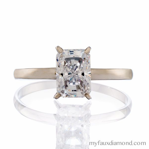 38 best My Faux Diamond Solitaire Rings images on Pinterest