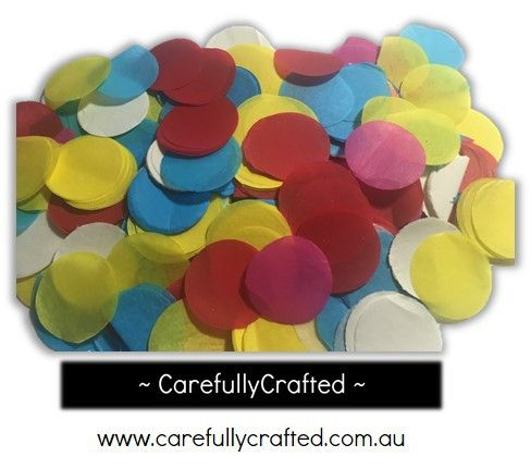 CarefullyCrafted - 25 Grams Tissue Paper Confetti - Rainbow - 1.25 inch Circles  - wedding, wedding planning, party, party fun, rainbow confetti, confetti mix, circle confetti, paper pieces, event, event décor, decoration, tableware, party planning, party http://carefullycrafted.com.au/25-grams-tissue-paper-confetti-rainbow-1-25-inch-circles-cc10/