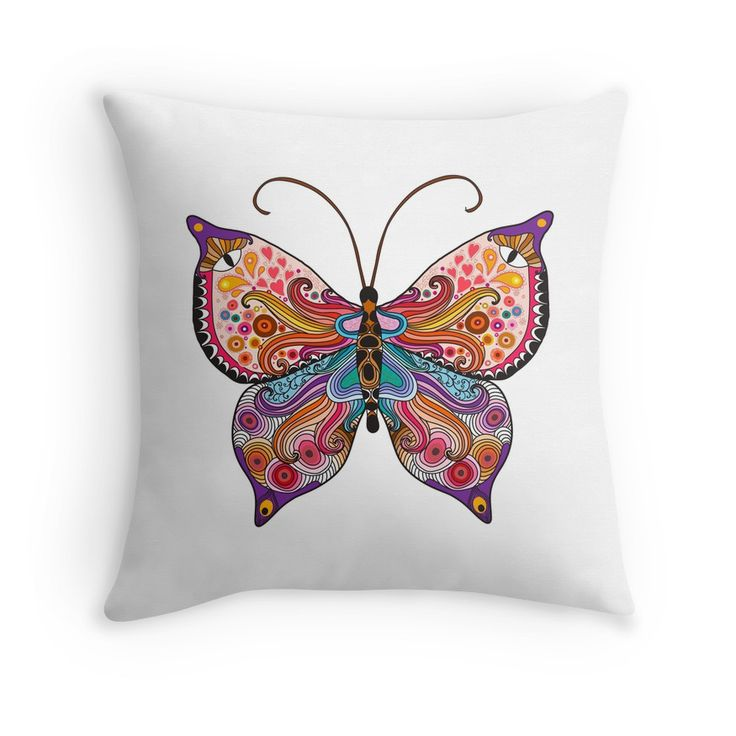 """""""Butterfly """" Throw Pillows by smotrivnebo   Redbubble"""