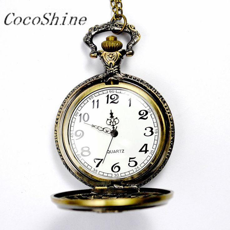 $2.78 (Buy here: https://alitems.com/g/1e8d114494ebda23ff8b16525dc3e8/?i=5&ulp=https%3A%2F%2Fwww.aliexpress.com%2Fitem%2FCocoShine-A-733-Vintage-Bronze-Magic-Wand-Pendant-Pocket-Quartz-Pocket-Watch-Necklace%2F32768206668.html ) CocoShine A-733  Vintage Bronze Magic Wand Pendant Pocket Quartz Pocket Watch Necklace wholesale Free shipping for just $2.78
