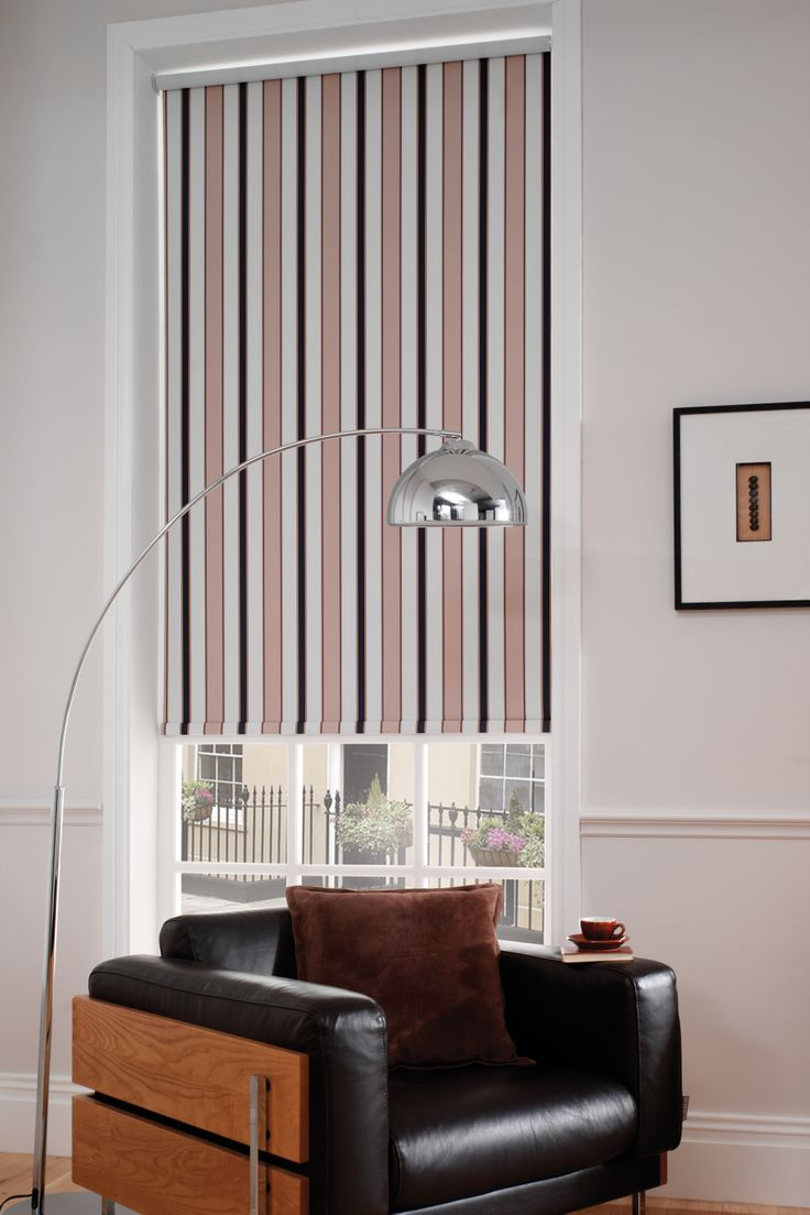 Stripe window blind for the urban townhouse