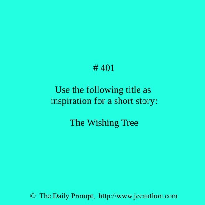 The Daily Prompt #401 - J. C. Cauthon #writing #thedailyprompt #writingprompt