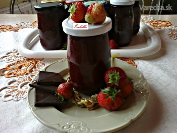 Jahodový džem s čokoládou (fotorecept)