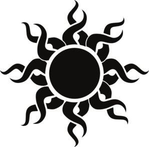 Tribal Sun Clip Art