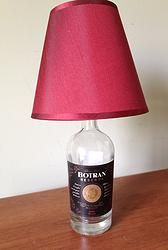 Botran Rum Recycled Bottle Lamp