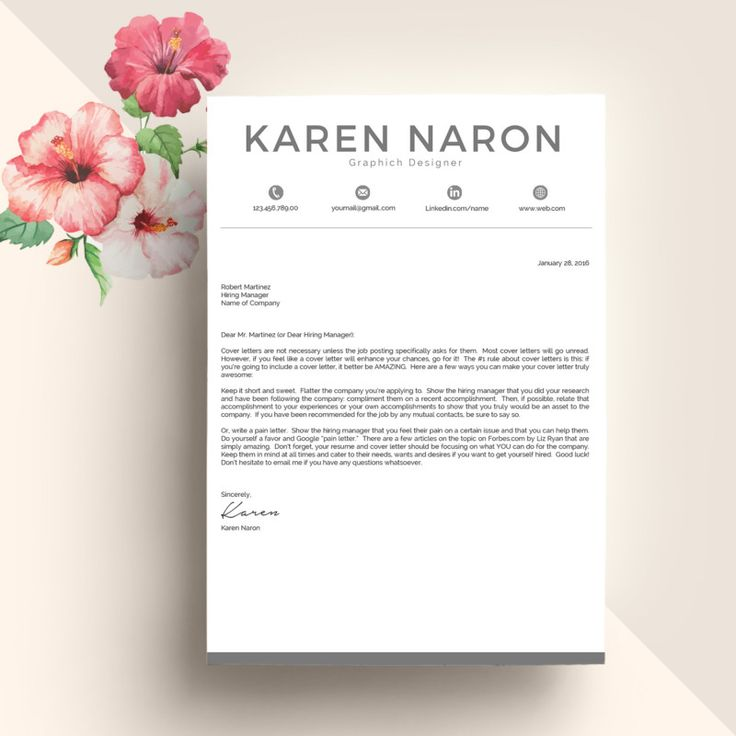 20+ Resume Cover Letter Template Word, EPS, Ai and PSD Format 20 - cover letter template word