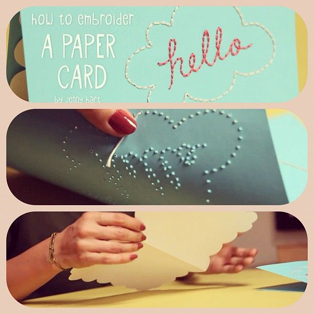 How to Embroider Paper - by Jenny Hart & Kin DIY