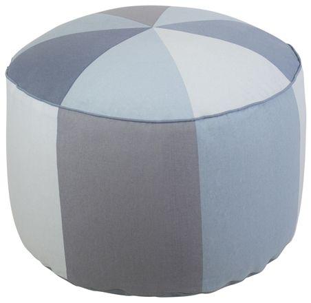 Sebra Sittpuff Pastell Blå