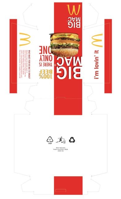 McDonald burger box !