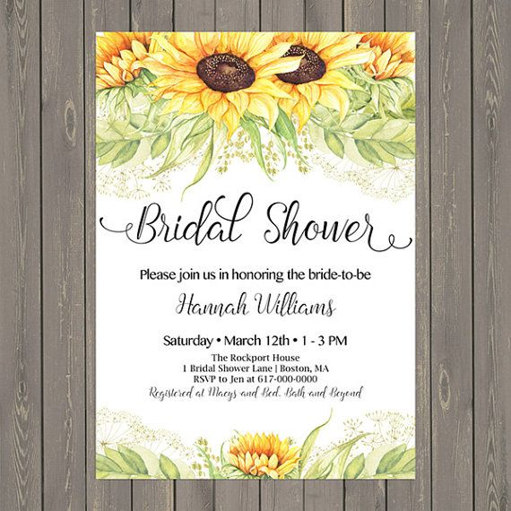 10+ Ideas About Sunflower Bridal Showers On Pinterest