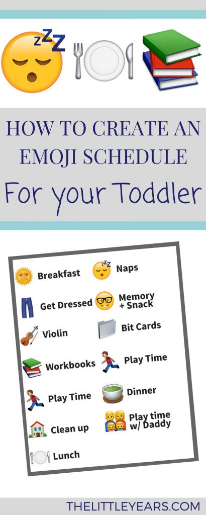 How to Create an Emoji Schedule for Your Toddler - Daily routine for kids - The Little Years
