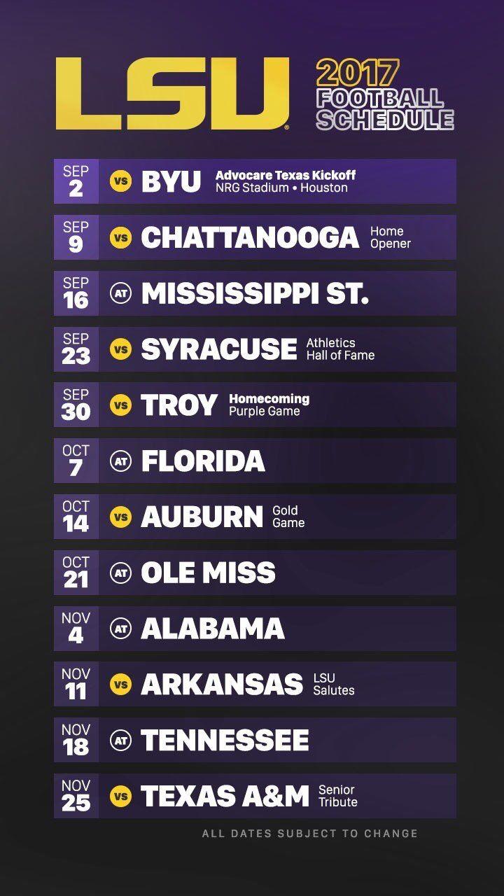 best 25 lsu football schedule ideas on pinterest lsu game