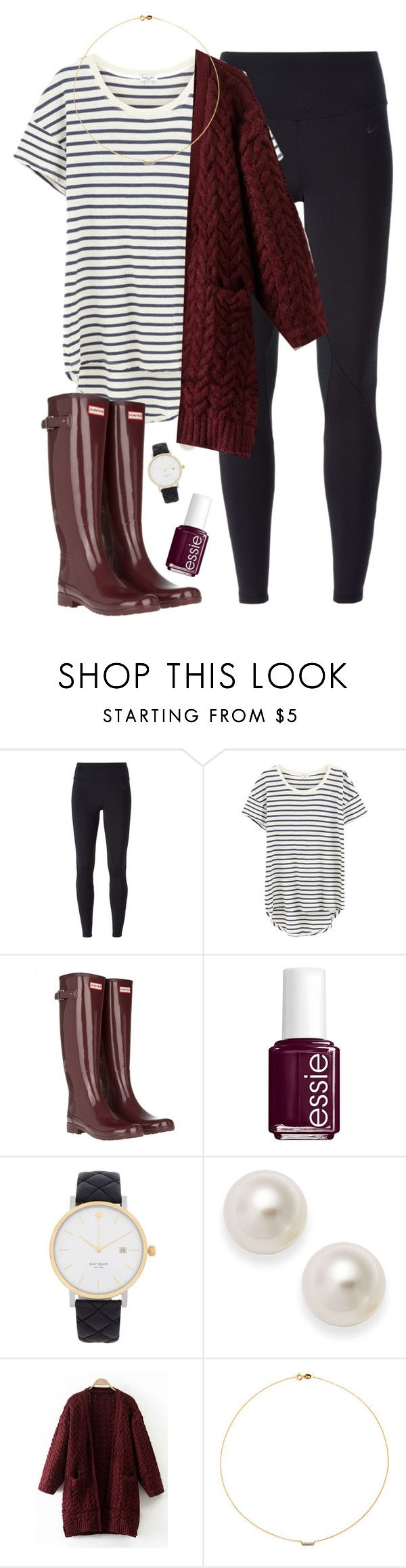 """""""{Look What I Found}"""" by star-lit-fashion ❤ liked on Polyvore featuring NIKE, Splendid, Hunter, Essie, Kate Spade and Sole Society"""
