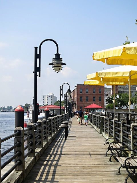Take a stroll along the River Walk in Historic Downtown Wilmington.  There are plenty of shops & restaurants for you to check out!