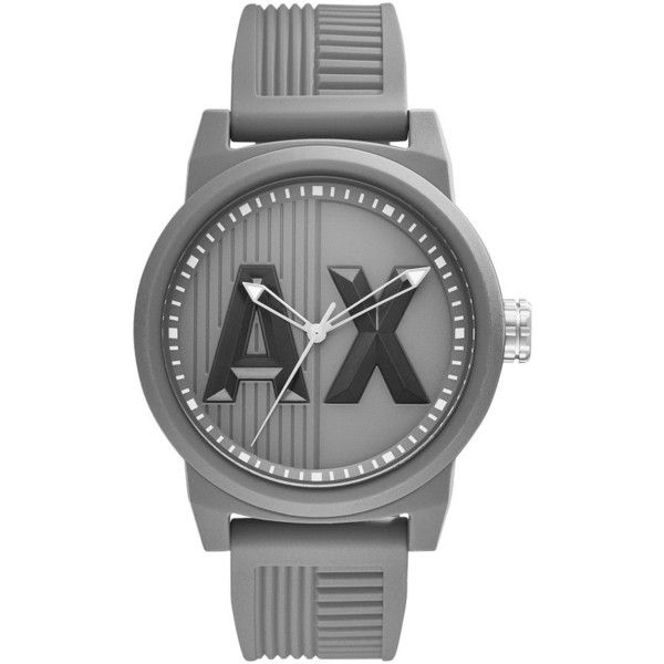 Ax Armani Exchange Atlc Logo Silicone Strap Watch, 46Mm (113,485 KRW) ❤ liked on Polyvore featuring jewelry, watches, silicon watches, silicone watches, silicone strap watches, silicone jewelry and armani exchange
