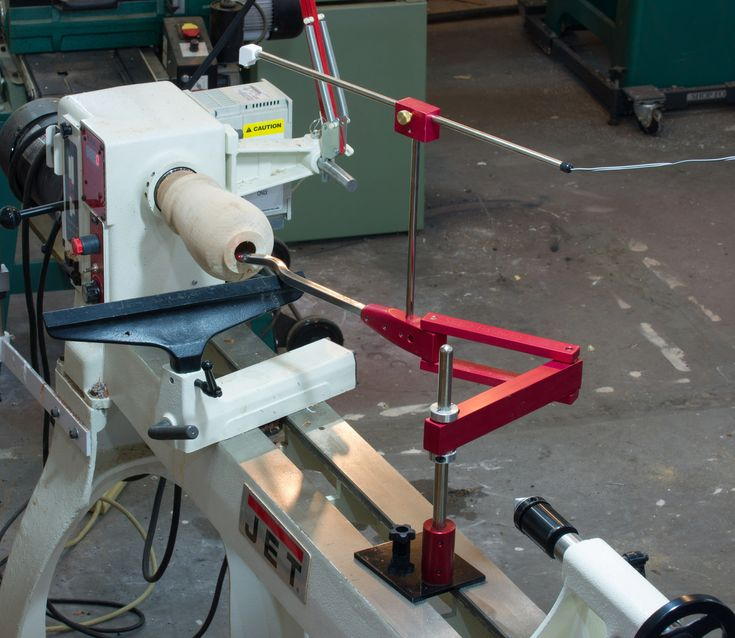 Simple Hollowing System for woodturning shown on Jet Lathe EVS 1642 wood lathe