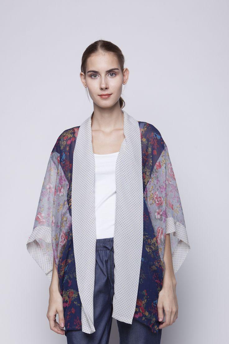 Belle Kimono Purple & Navy   Rp 221.250