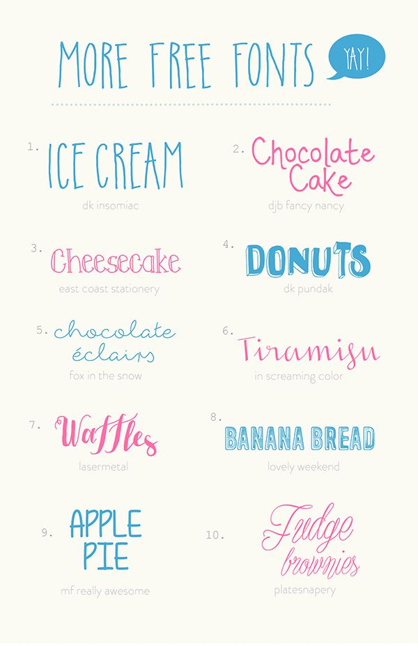 Hello!: More Happy Free Fonts! Yay! @ OhHelloDy  ~~ {10 free fonts w/ easy download links}