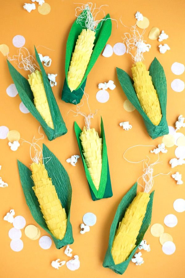 Harvest Corn Surprise Ball DIY | Oh Happy Day! // @ohhappyday