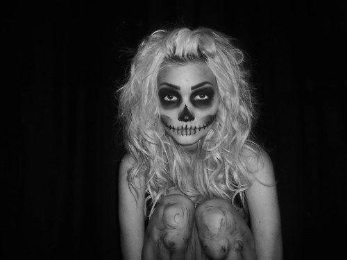 skeleton makeup | Tumblr